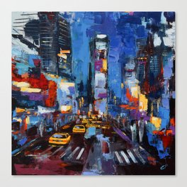 Saturday Night in Times Square Canvas Print
