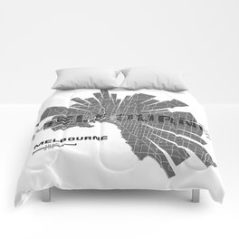 Melbourne Map Comforters