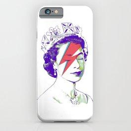Queen Elizabeth / Aladdin Sane iPhone Case