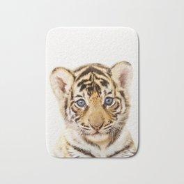 Baby Tiger, Baby Animals Art Print By Synplus Bath Mat
