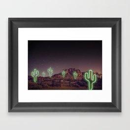 UFO forest Framed Art Print