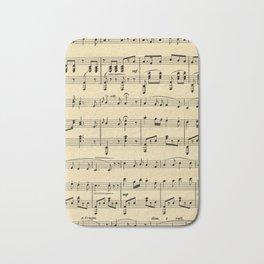 Antique Sheet Music Bath Mat