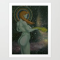 saturn Art Prints featuring Saturn by gdarby