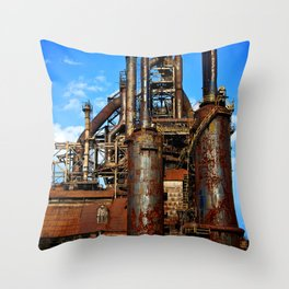 Bethlehem Steel Blast Furnace 1 Throw Pillow