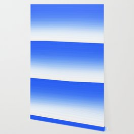 Sky Blue White Ombre Wallpaper