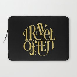 Travel in Gold Laptop Sleeve