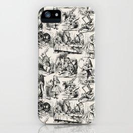 Alice in Wonderland | Toile de Jouy | Black and Beige iPhone Case