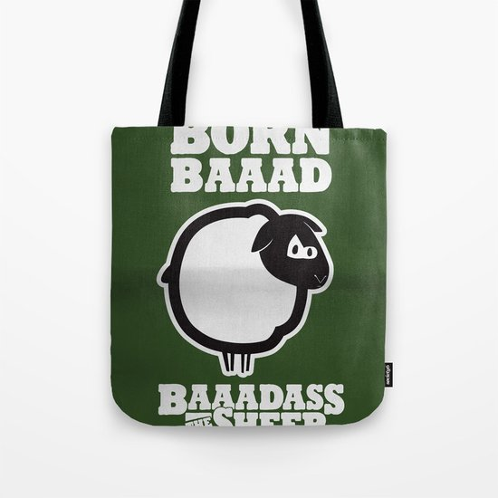 Baaadass the Sheep: Born Baaad Tote Bag