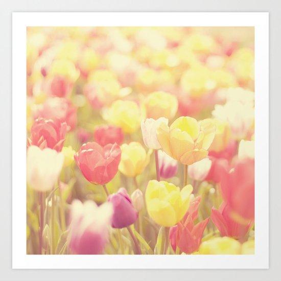 life isn't a tiptoe through the tulips ... Art Print