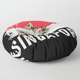 Singapore Flag Shirt Asian Honey Bee Fly Insect Floor Pillow