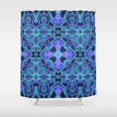 Aqua/Purple Mandala Shower Curtain