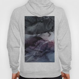 Moody Dark Chaos Inks Abstract Hoody