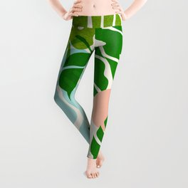 Abstraction_FLORAL_NATURE_Minimalism_001 Leggings