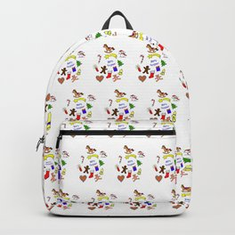 Christmas doodle pattern Backpack