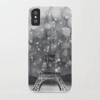 eiffel tower iPhone & iPod Cases featuring Eiffel Tower by Caroline Krzykowiak
