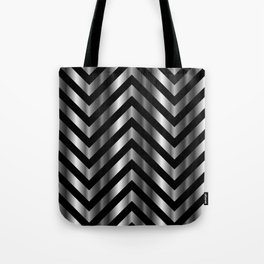 High grade raw material stainless steel and black zigzag stripes Tote Bag