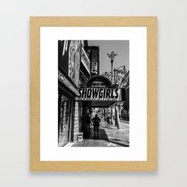 Showgirls Hollywood Blvd Framed Art Print
