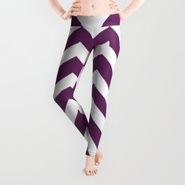Palatinate purple - violet color - Zigzag Chevron Pattern Leggings