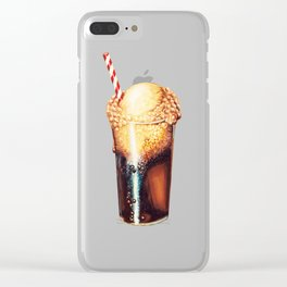 Root Beer Float Pattern Clear iPhone Case