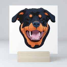 Rottweiler Face Art Mini Art Print
