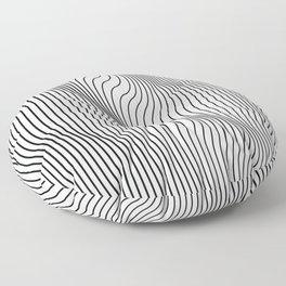 Minimal Curves Floor Pillow
