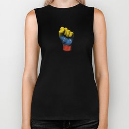 Venezuelan Flag on a Raised Clenched Fist Biker Tank
