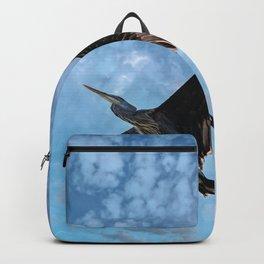 Great Blue Heron Soaring Backpack