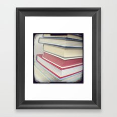 Something to read Framed Art Print