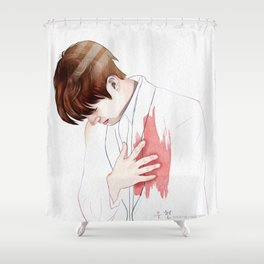 heart is hurt Shower Curtain