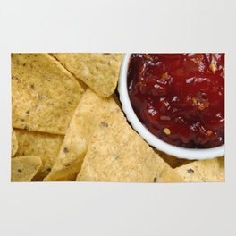 Nachos and Chilli Dip Overhead Rug
