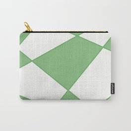 Geometric abstract - green and white. Carry-All Pouch