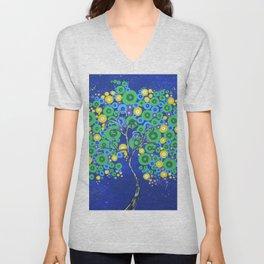 Peacock Tree of Life Unisex V-Neck