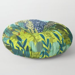 Wild Jungle || #illustration #painting Floor Pillow