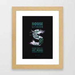HOUSE SLYTHERIN Framed Art Print