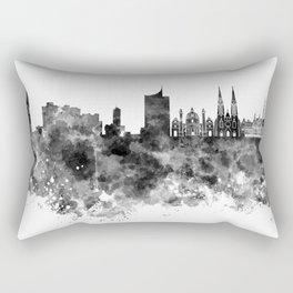 Vienna skyline in black watercolor Rectangular Pillow