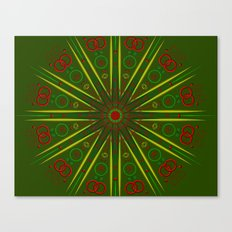 Greens and Reds Canvas Print