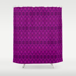 Magenta Damask Pattern Shower Curtain