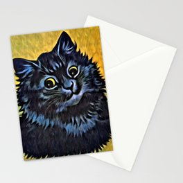 Louis Wain's Cats - Black Cat Stationery Cards