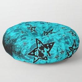 Aqua Toxic Stars Floor Pillow