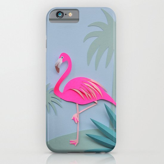 Pink and blue flamingos! iPhone & iPod Case