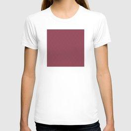 Rose Red (Rouge) Tres Petit Geometric Pattern T-shirt