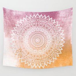 SUMMER LEAVES MANDALA Wall Tapestry