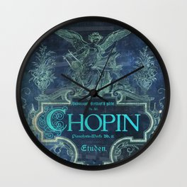 Frederick Chopin Blue Wall Clock