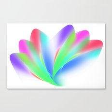 Fanned (on White) Canvas Print
