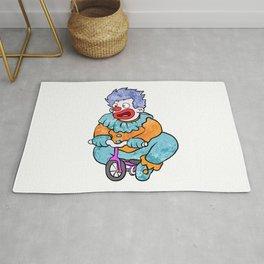 Clown riding Rug
