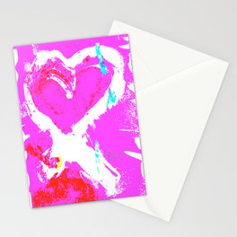 Pink Graffiti Ribbon for Breast Cancer Research by Jeffrey G. Rosenberg Stationery Cards