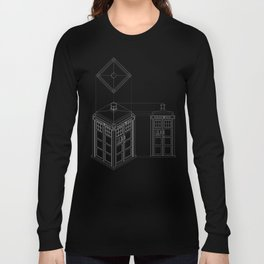 Tardis -Dark Long Sleeve T-shirt