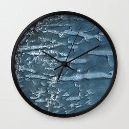 Dark slate gray colored wash drawing Wall Clock