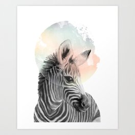 Zebra // Dreaming Art Print