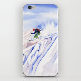 Powder Skiing iPhone Skin